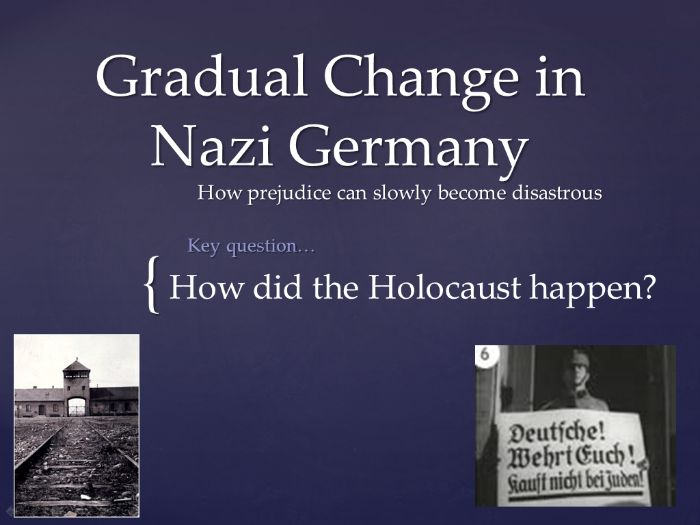 Gradual Change in Nazi Germany