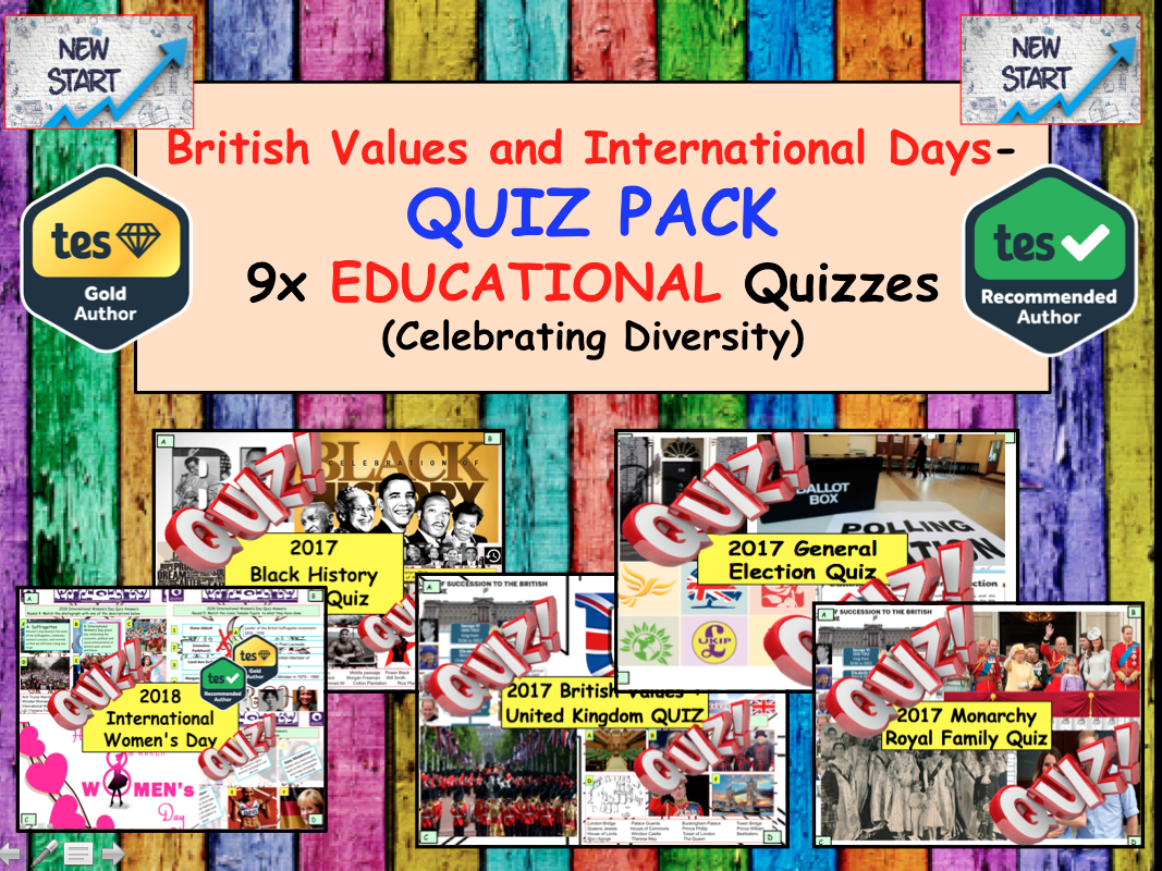 Christmas British Values International Days Quiz