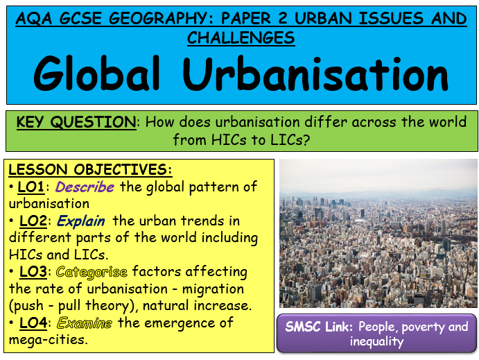 New Specification AQA Geography Urban Issues and Challenges