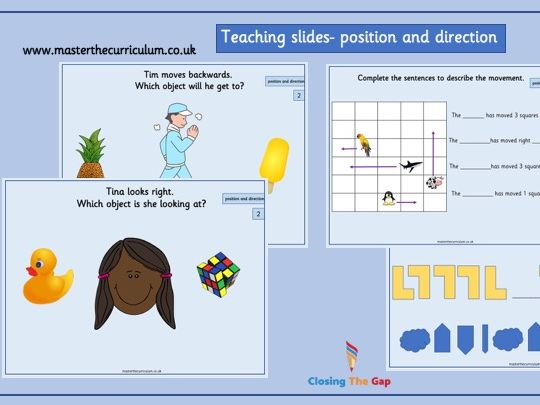Year 2- position and direction- white rose style teaching slides
