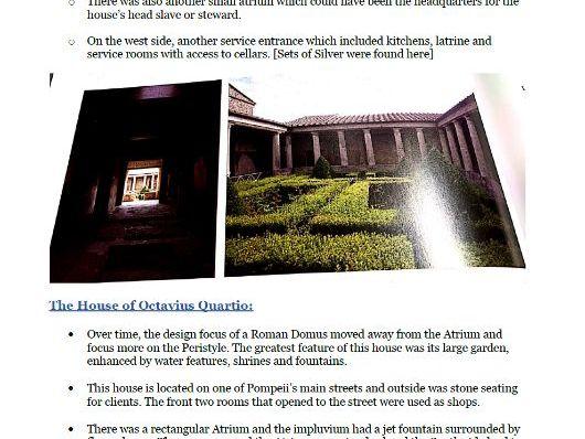 Unit 3.1 Roman Housing (Roman City Life)- Notes Classical Civilisation OCR GCSE Revision