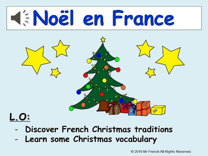Noël en France (French Christmas) 1 lesson! Y3 (2nd Grade) and beyond
