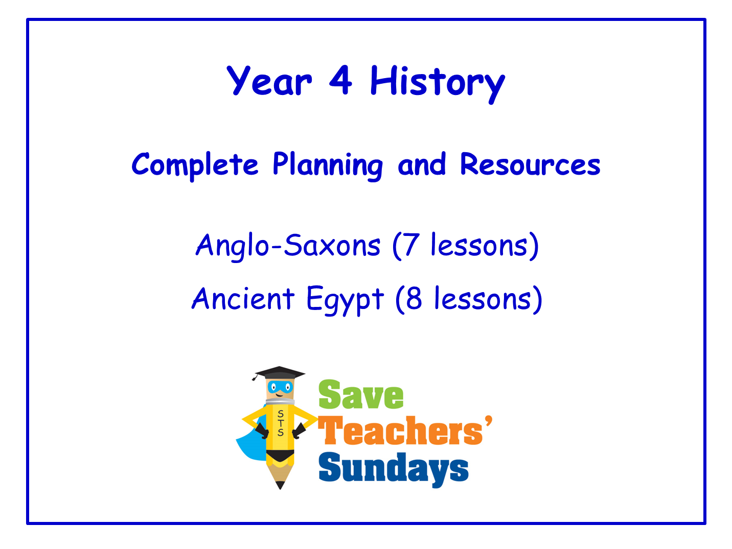 Year 4 History Planning and Resources