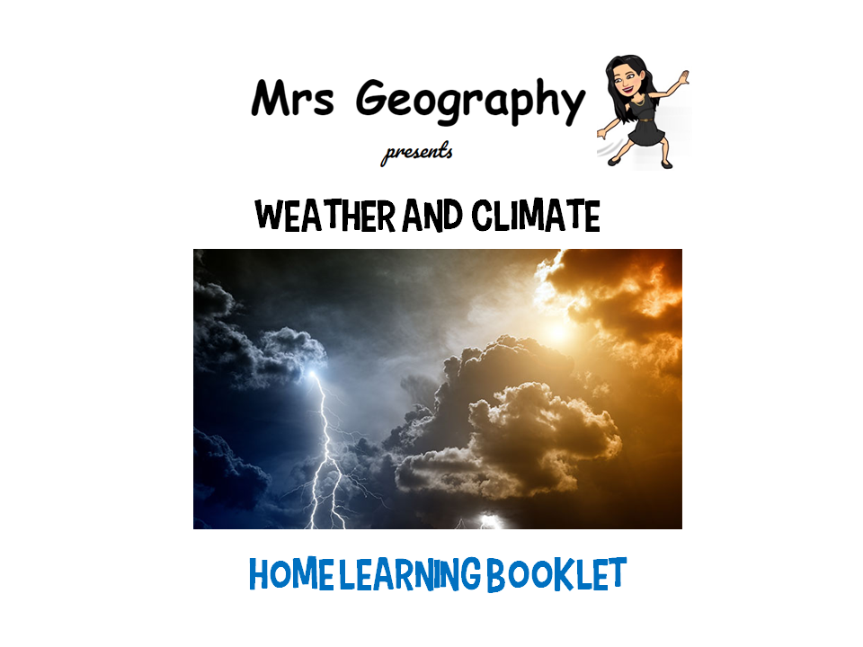 Weather and climate HOME LEARNING BOOKLET