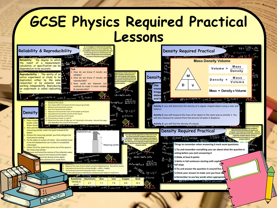 New 1-9 GCSE Science (Physics) Required Practical Lessons