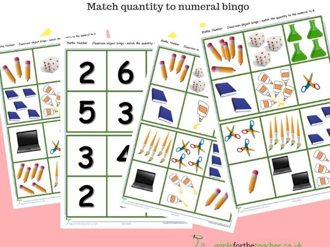 Bingo match numeral to quantity