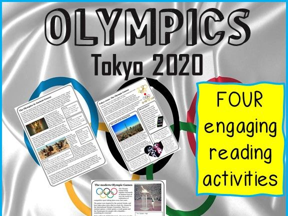 TOKYO 2020 - Olympics Reading Comprehension package. Updated for 2021!