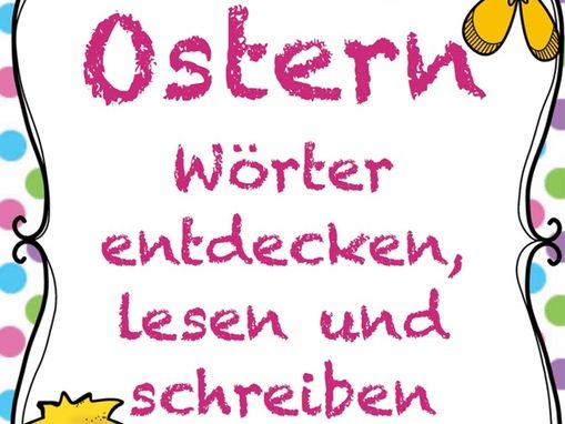 OSTERN Children reading /writing, German easter worksheets, colours, vocab,easter activities Germany