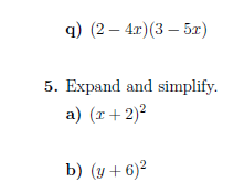 3 GCSE/IGCSE worksheets on expanding and factorising (with solutions)