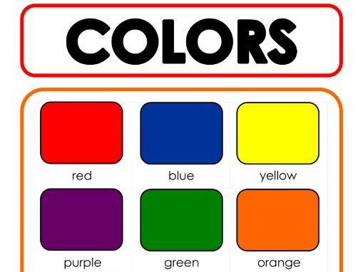 Color Chart - Printable