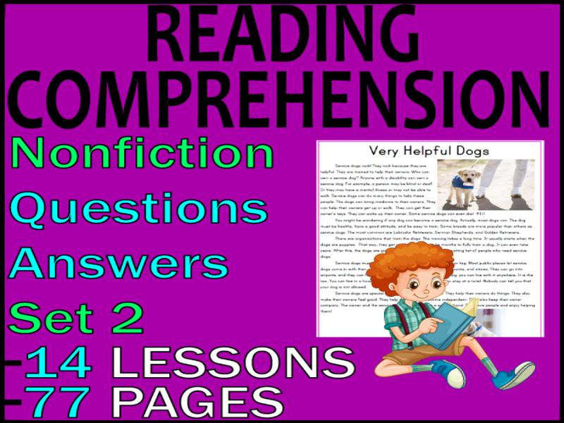 Nonfiction Reading Comprehension Passages & Questions Bundle | Grade 2-3