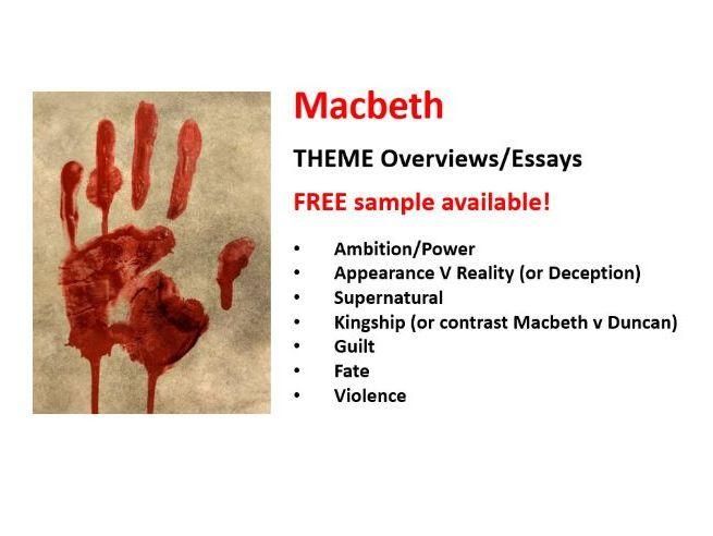 MACBETH - THEMES Overviews / Essays