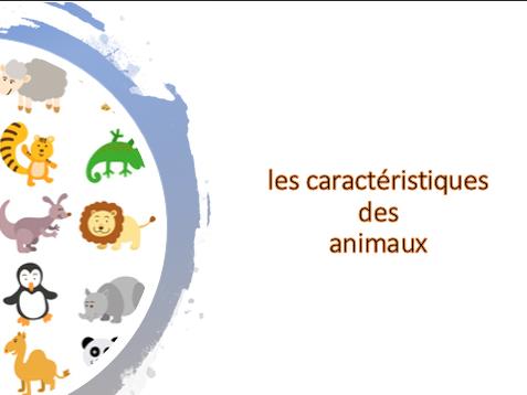 Les caractèristiques des animaux_animal caracteristics