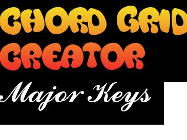 Chord Creation Grid - Major keys