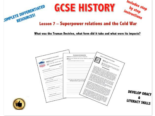 Edexcel Superpower Relations & Cold War L7 What was the Truman Doctrine & what were its impacts?