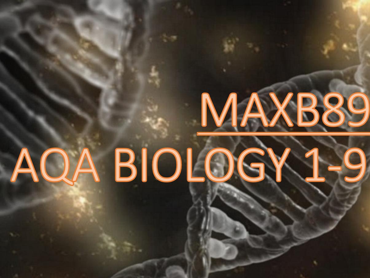 AQA 9-1 Biology Revision Mats AND Slides -Entire B1-7 (All topics)