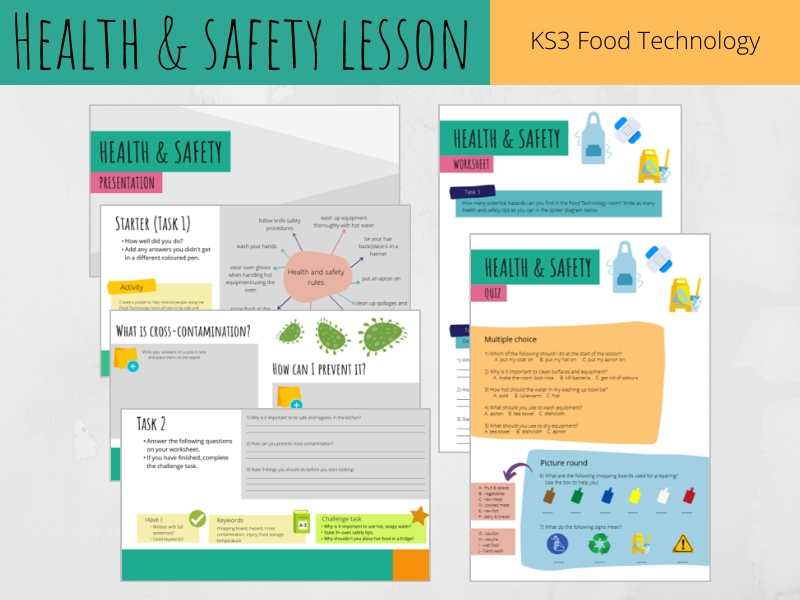Health and safety lesson (KS3 Food Technology)