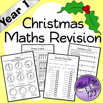 Year 1 Christmas Maths Revision - Australian Curriculum Aligned