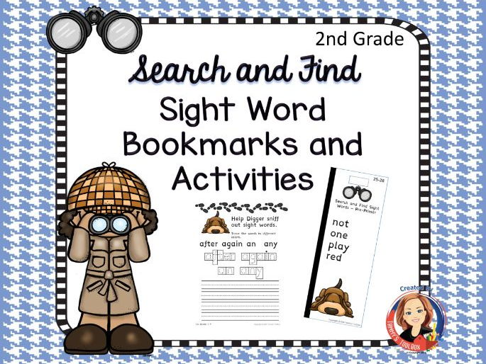 Sight Word Bookmarks and Activities, 2nd Grade Words