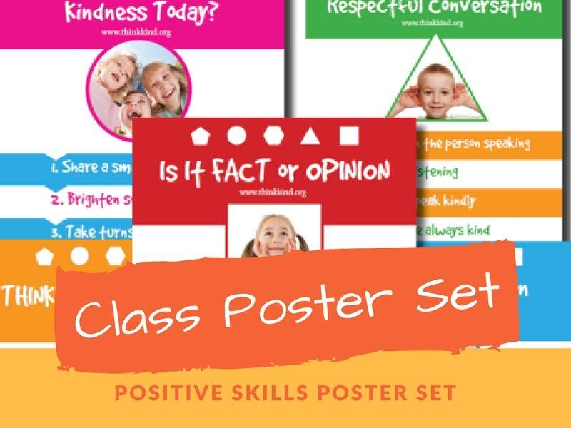 Classroom Poster Set: Positive Skills