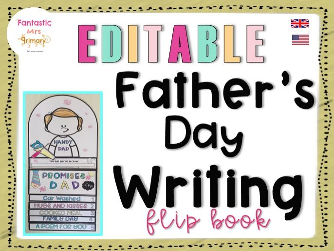 Father's Day Writing: easy craft flip book