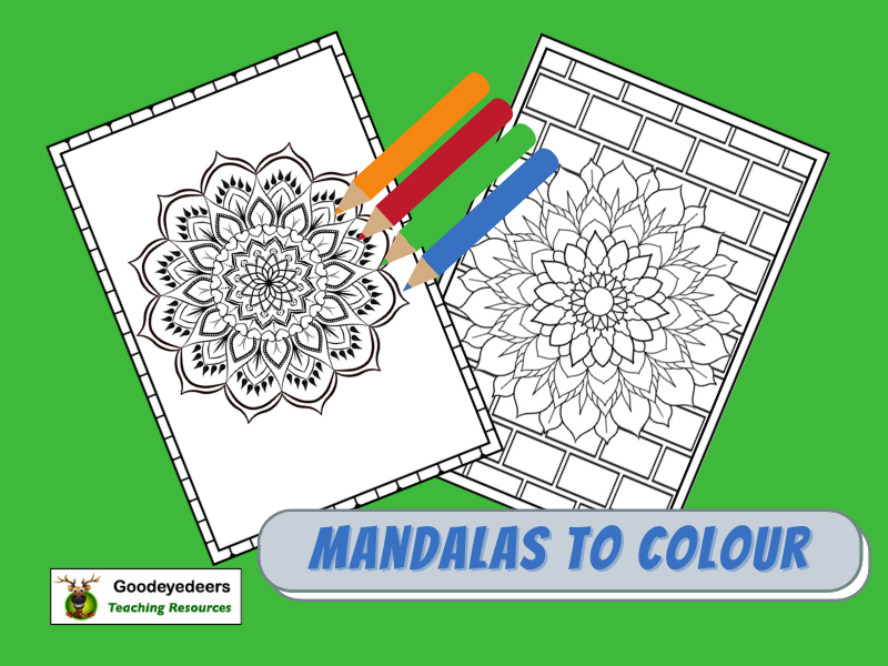 Mandala Patterns to Colour