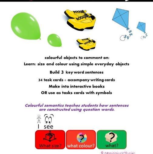 Describing objects using colourful semantics