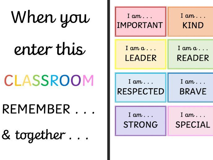 In this Classroom we are . . .