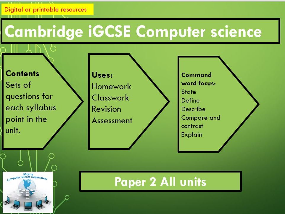 CIE IGCSE COMPTER SCIENCE PAPER 2 REVISION
