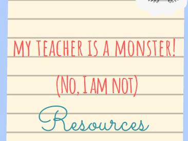 My teacher is a monster resource pack