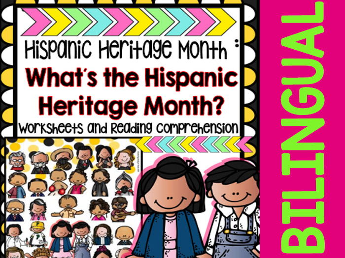 Hispanic Heritage Month - Worksheets and Readings (Bilingual)