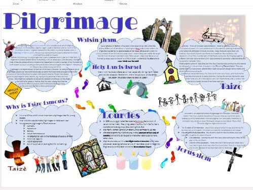 Christianity: Practices: Pilgrimage Learning Mat Revision Sheet