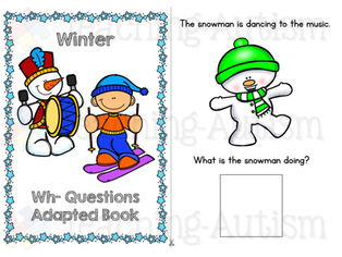 Winter Wh- Questions, Adapted Book