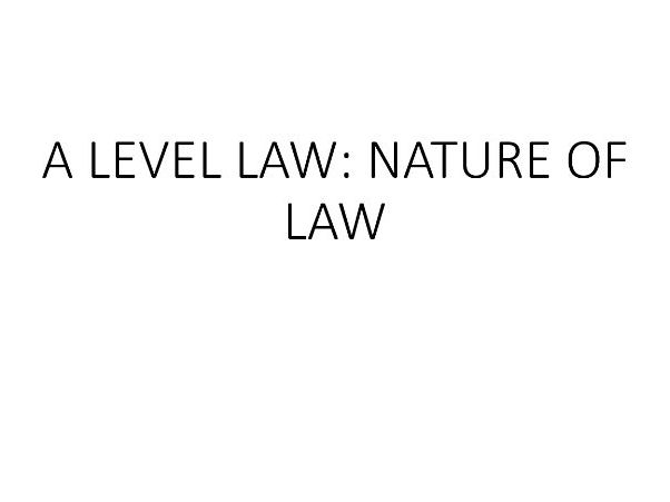 OCR A-Level Law Revision Posters (NATURE OF LAW)