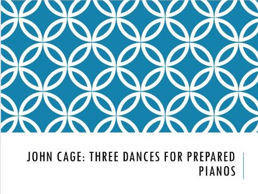 Analysis of Three Dances for Two Prepared Pianos