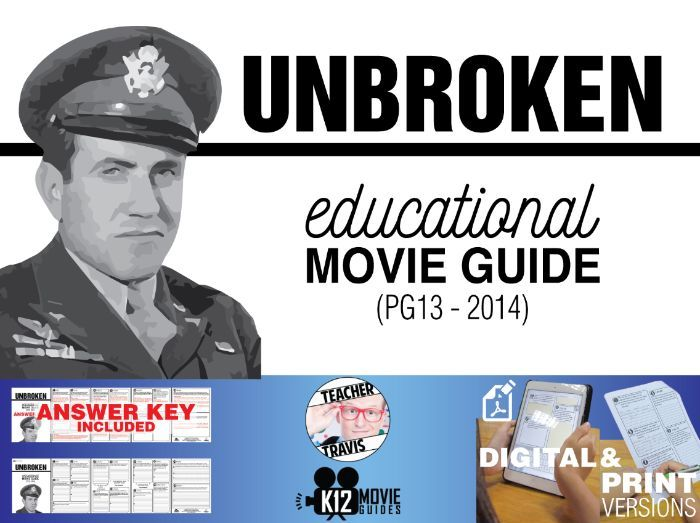 Unbroken Movie Guide | Questions | Worksheet (PG13 - 2014)