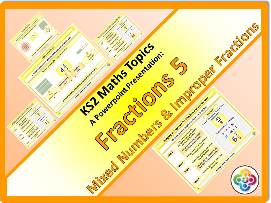 Fractions 5: Mixed Numbers and Improper Fractions KS2
