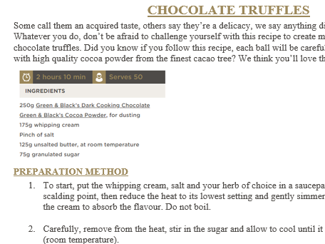 Year 3 or 4 Chocolate Instructions English Planning and Resources