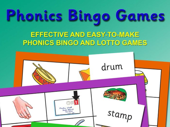 PHONICS BINGO GAMES