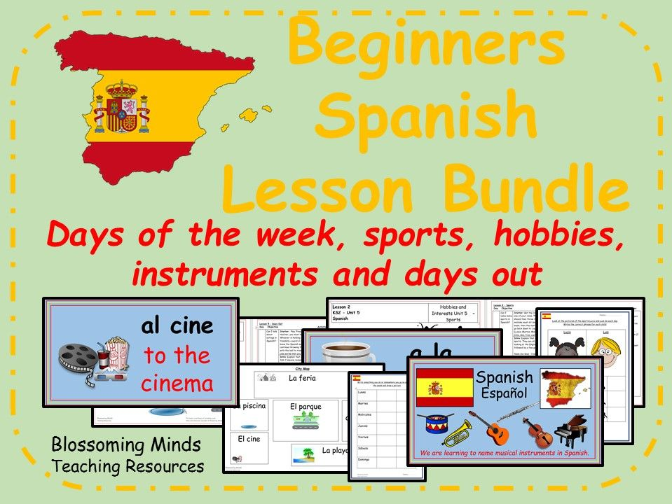 Spanish Lesson Bundle - Hobbies and Interests - KS2 - Mi Tiempo Libre