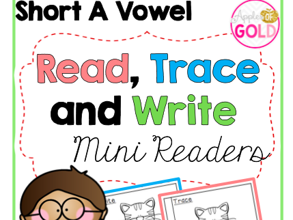 Read, Trace and Write Booklets - CVC Short a Vowel -Mini Readers