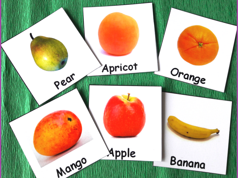 Fruits and Berries Communication Cards for Special Education
