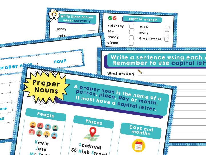Year 1 SPaG: Activities Pack – Capital Letters for Proper Nouns
