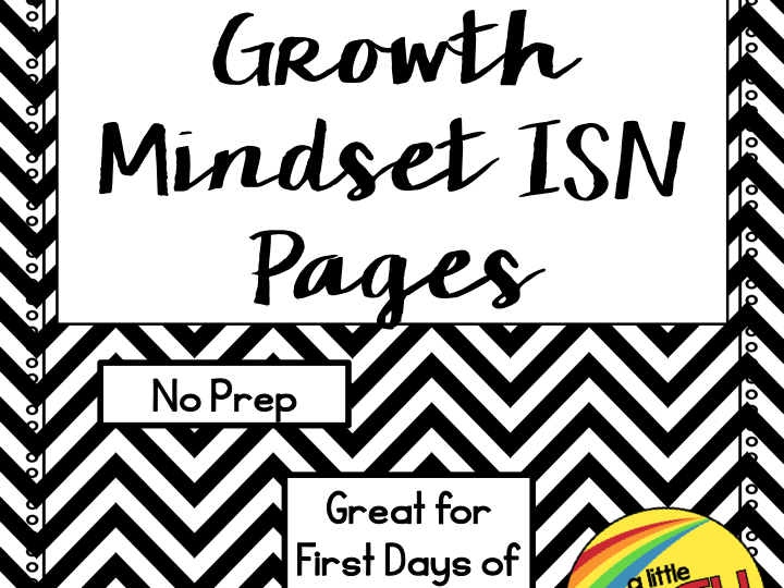 Growth Mindset ISN Notes for Math
