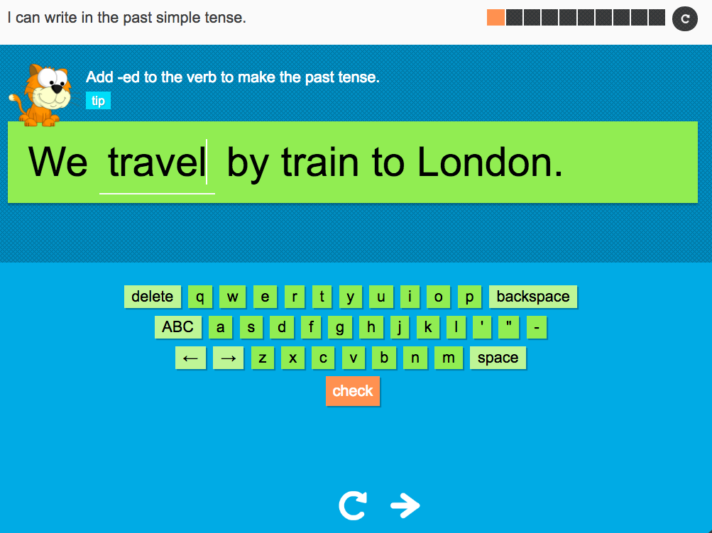 I can write in the past simple tense - Interactive Activity - Year 2 Spag