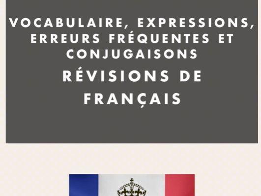 Booklet French GCSE/A Level vocab/grammar