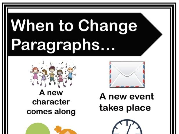 When to Change Paragraphs - Handout