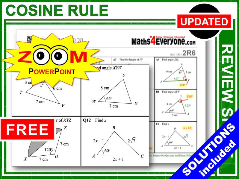 GCSE Revision (Cosine Rule)