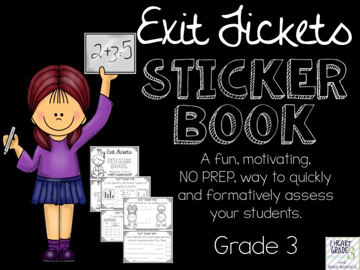 Exit Tickets Sticker Book