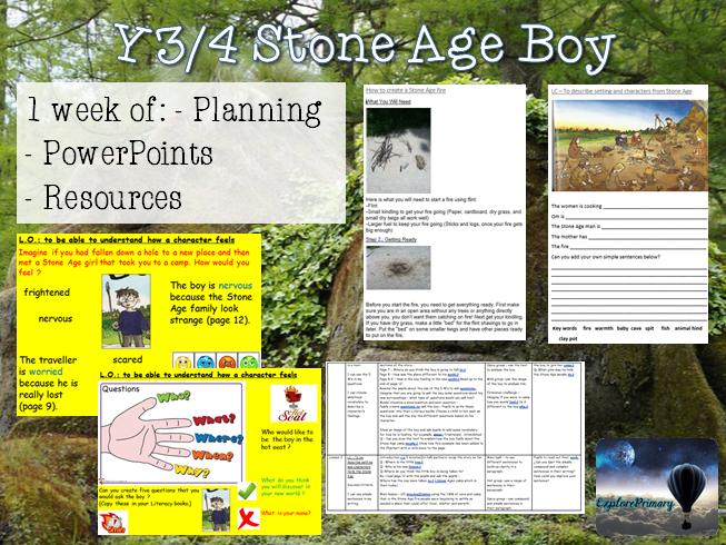 Y3/4 Stone Age Boy - x1 Week of Planning